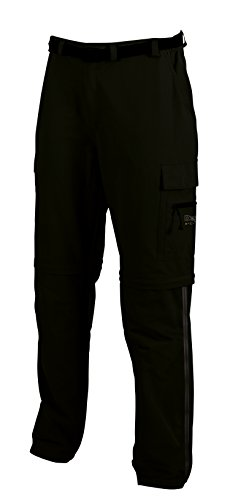 Deproc Active Herren Outdoorhose KENTVILLE T-ZIP-OFF mit seitlichem RV, Black, 26, 54865-090 von DEPROC-Active