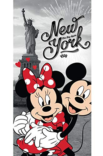 Disney 18TW176 Minnie und Micky Maus in New York Badetuch 70 x 140 von Disney