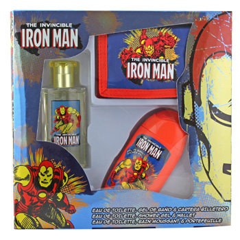 Disney Iron Man  - Kindersets EdT Spray 50 ml + Duschgel 120ml + Geldbörse von Disney