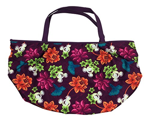 Disney Parks Purple Hawaiian Floral Mickey Icon Tote von Disney