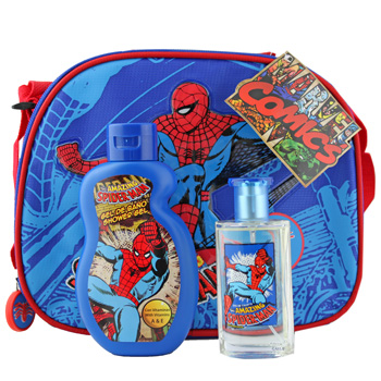 Disney Spiderman  - Kindersets EdT Spray 50 ml + Duschgel 200ml + Tasche von Disney