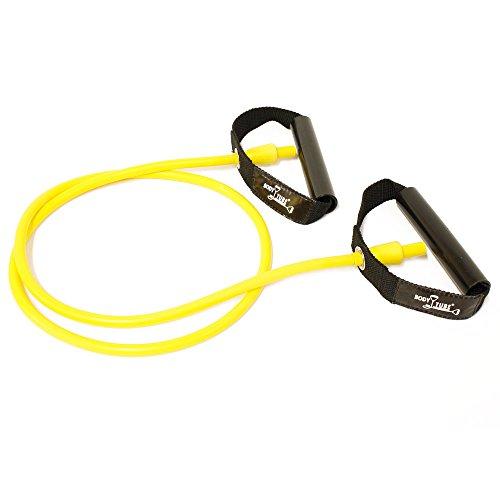 f/ür Muskelaufbau FTM Dittmann/® Rubberband XL in Rot inkl /Übungsflyer Expander f/ür Gummiband Sport 10 stark Krafttraining und Fitness
