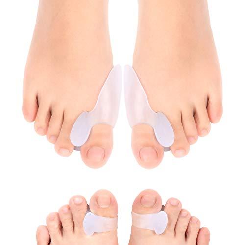 1 Paar 2 Farben Toe Separator Hallux Valgus Zehen Überlappenden Trennung Zehen Rehabilitation Korrektur Orthesen Yoga Bedarfs Schönheit & Gesundheit