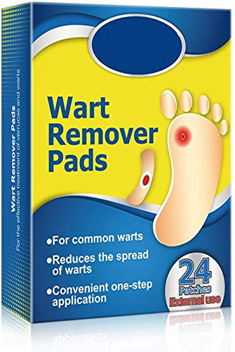 Wart Remover, Corn Remover Pads, Foot Corn Removal Plaster with Hole, Professional Removes Common and Plantar Warts, Callus, Stops Wart Regrowth 24Pcs (24 pcs) von DongEr