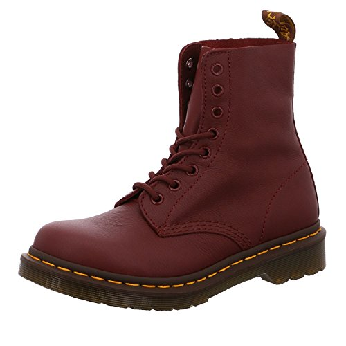Dr. Martens PASCAL Virginia CHERRY RED, Damen Combat Boots, Rot (Red (Cherry Red Virginia 411)), 37 EU (4 Damen UK) von Dr. Martens