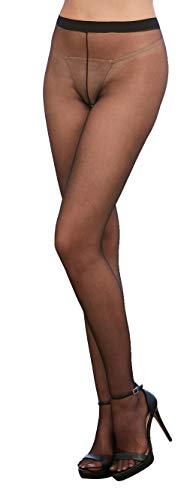 Dreamgirl Women's Lucerne Sheer Pantyhose, Black, One Size von Dreamgirl