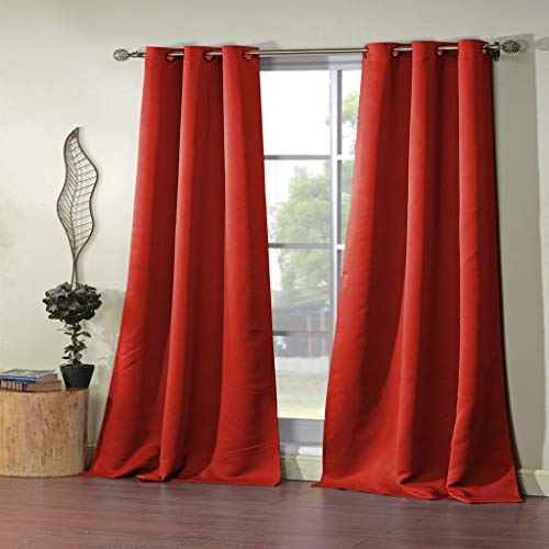 Duck River Textile Steyna Blackout Window Curtain, 38 x 84 Inches, Red von Duck River Textile