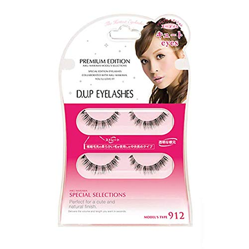 D.U.P False Eyelashes Premium Edition - Cute Eyes 912 (Green Tea Set) von Dup
