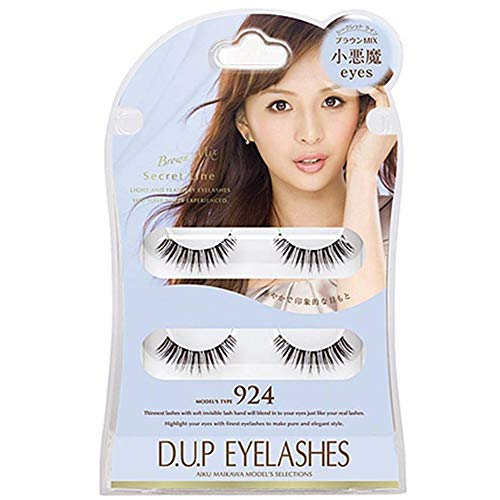 D.U.P False Eyelashes Secret Line Brown Mix - Small Devil Eyes 924 (Green Tea Set) von Dup