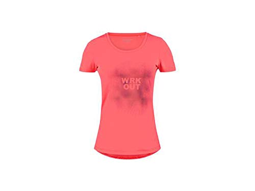ENERGETICS Damen Gundula T-Shirt, Red Light/Red Light, 46 von ENERGETICS