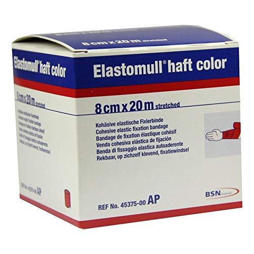 ELASTOMULL haft color 8 cmx20 m Fixierb.rot 1 St Binden von Elastomull