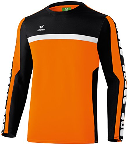 erima Kinder Classic 5-C Trainings Sweatshirt, orange/schwarz/weiß, 152 von Erima