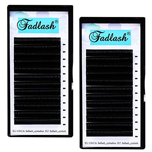 2 Tray Volumen Wimpern D Curl 0.07 13mm+15mm Easy Fan Russian Lashes Self Fanning Lashes Volume Lashes 2D 3D 5D 10D Easy Fanning Lashes(KH-0.07-D-13+15) von FADLASH