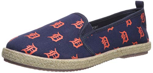 FOCO MLB Unisex Espadrille Canvas Schuh – Damen, Unisex, Espadrille Canvas Shoe - Womens, Team Color, Large von FOCO
