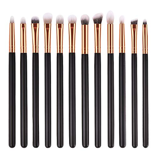 frcolor 12 PCS Lidschatten-Pinsel-Set Make-up-Pinsel Kosmetik Werkzeug von Frcolor