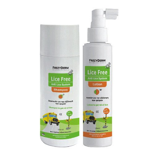 FREZYDERM LICE FREE SET (SHAMPOO 125ml + LOTION 125ml + TOOTHED COMB) von F FREZYDERM DERMOCEUTICALS