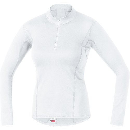 GORE Wear Atmungsaktives Damen Stehkragen-Unterzieh-Shirt, GORE M Women Base Layer Thermo Turtleneck, 42, Weiß, 100316 von GORE WEAR