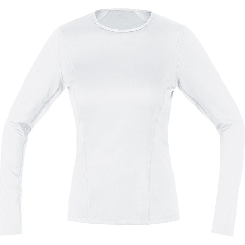 GORE Wear Atmungsaktives Damen Thermo-Unterzieh-Shirt, GORE M Women Base Layer Thermo Long Sleeve Shirt, 36, Weiß, 100315 von GORE WEAR