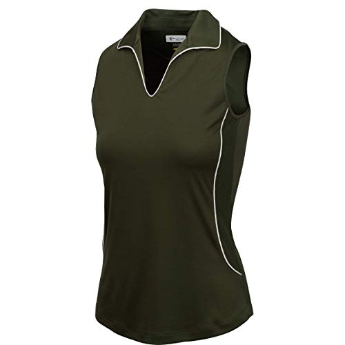 GREG NORMAN Damen Polo ML75 Courage S/L, Damen, Ärmellos, Ml75 Courage S/l Polo, Loden, X-Large von GREG NORMAN