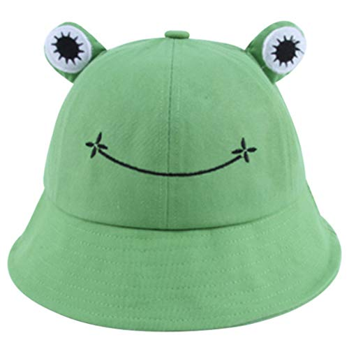 GROOMY Fisherman's Hat, Foldable Cotton Frog Bucket Hat Summer Sunscreen Fisherman Cap Hunting Sunhat-Green von GROOMY