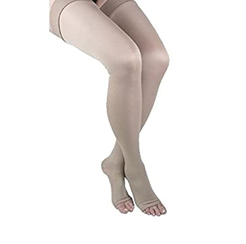 GABRIALLA Open Toe Thigh Highs - Compression (25-35 mmHg): H-306(O)(2), 2 Count, X-Large, Beige von Gabrialla