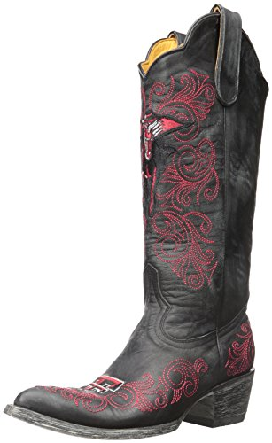 NCAA Damen University Stiefel, 33 cm, Damen, TT-L010, schwarz, 10.5 von Gameday Boots
