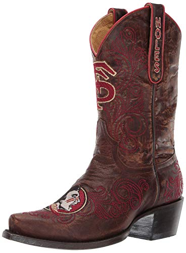 Gameday Boots NCAA Damen University Stiefel 25,4 cm, Damen, FSU-L334, Messing, 5 von Gameday Boots