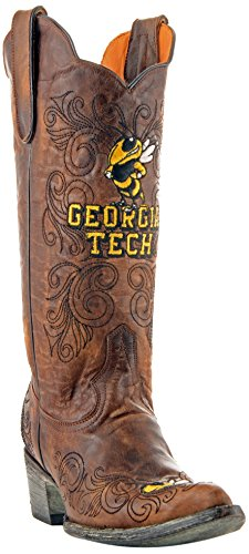 Gameday Boots NCAA Georgia Tech Damenstiefel, 33 cm, Damen, GT-L037, Messing, 6.5 B (M) US von Gameday Boots