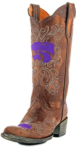 Gameday Boots NCAA Kansas State Wildcats Damenstiefel, 33 cm, Damen, KST-L042, Messing, 8 B (M) US von Gameday Boots