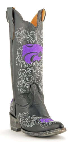 Gameday Boots NCAA Kansas State Wildcats Damenstiefel, 33 cm, Damen, KST-L042, schwarz, 7.5 B (M) US von Gameday Boots