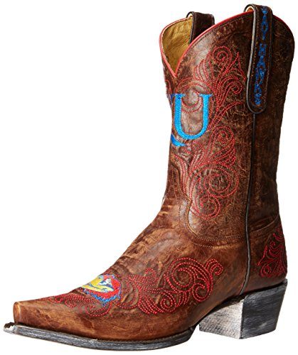 NCAA Kansas Jayhawks 25,4 cm Gameday Damen Stiefel, Damen, Messing, 5.5 B (M) US von Gameday Boots