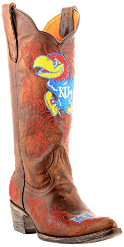 NCAA Kansas Jayhawks Damen 33 cm Gameday Stiefel, Damen, Messing, 8 B (M) US von Gameday Boots