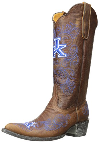 NCAA Kentucky Wildcats 33 cm Gameday Damen Stiefel, Damen, Messing, 6 B (M) US von Gameday Boots