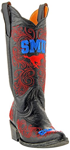 NCAA SMU Mustangs Damen 33 cm Gameday Stiefel, Damen, SMU-L006, Messing, 11 B (M) US von Gameday Boots
