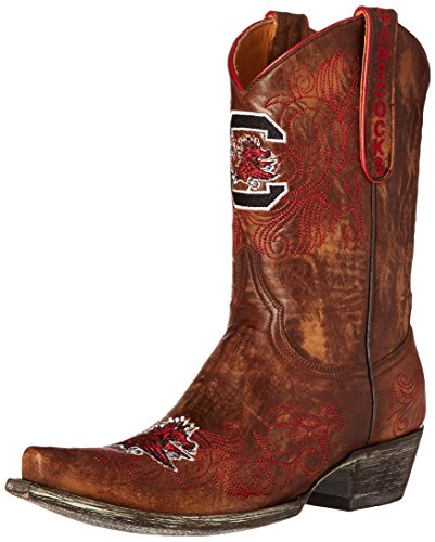 NCAA South Carolina Fighting Gamecocks 25,4 cm Gameday Damen Stiefel, Damen, Messing, 5.5 B (M) US von Gameday Boots