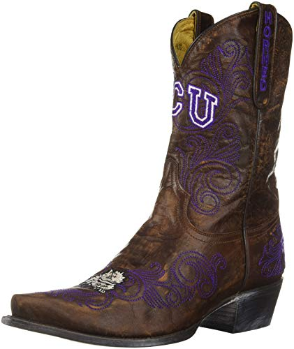 NCAA TCU gehörnten Frösche 25,4 cm Gameday Damen Stiefel, Damen, Messing, 5.5 B (M) US von Gameday Boots