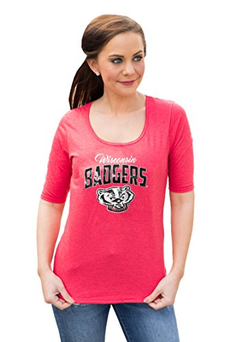 Gameday Couture NCAA Damen T-Shirt NCAA Halbarm, Damen, Half Sleeve Tee, rot, Small von Gameday Couture