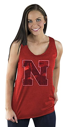 Gameday Couture NCAA Damen Racerback Tank, Damen, ARTT16S, rot, X-Large von Gameday Couture