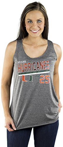 Gameday Couture NCAA Ladies Miami Hurricanes Triblend Racerback Tank, Grey,Size L von Gameday Couture