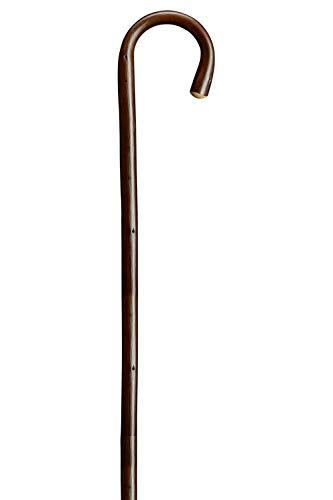 Holz Bergstock 95 cm Fritz Stock  Wanderstock Spazierstock  silbern Metallspitze