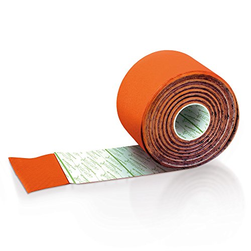 Gatapex Taping Band 5,5 m x 5 cm– hautfreundliches atmungsaktives Tape Orange von Gatapex