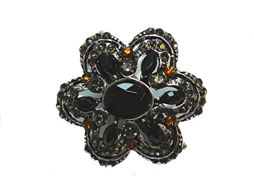 Bronze Vintage Kristall Blume Mini Hair Clip Clamp von Glitz4Girlz