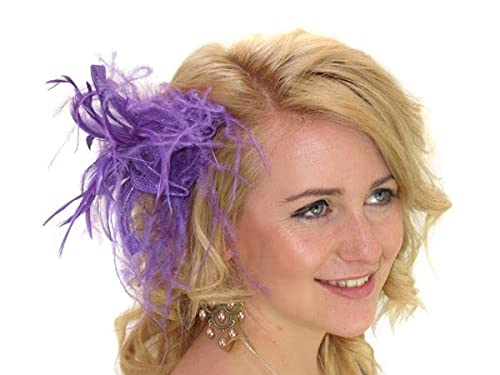 Glitz4Girlz Fascinator Lila Star Flower von Glitz4Girlz
