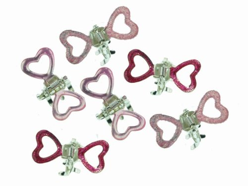 Glitz4Girlz Fascinator Mini-rosa Herz Klaue Clips von Glitz4Girlz