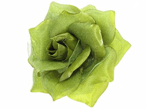 Green Rose Flower Hair Clip by Glitz4Girlz von Glitz4Girlz