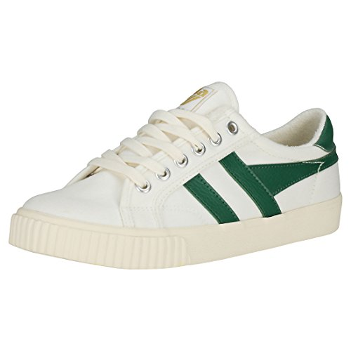 Gola Damen Tennis Mark Cox Sneaker, Weiß (Off White/dk.Green Wn), 36 EU von Gola