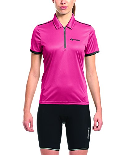 Gonso Damen Litha Da-Bike-Polo, Raspberry, 36 von Gonso