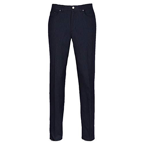 "Greg Norman Herren Sable Five-Pocket Heathered Pant Hosen, Dark Night Heather, W: 40"" x L: 30"" von Greg Norman"