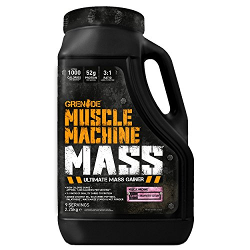 Grenade Muscle Machine Mass Strawberry Cream, 2250 g von Grenade