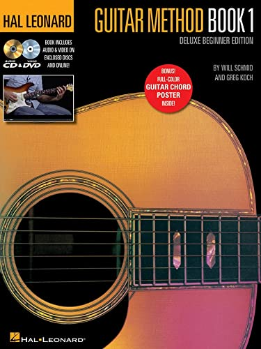 Hal Leonard Guitar Method - Book 1, Deluxe Beginner Edition: Includes Audio & Video on Discs and Online Plus Guitar Chord Poster von HAL LEONARD